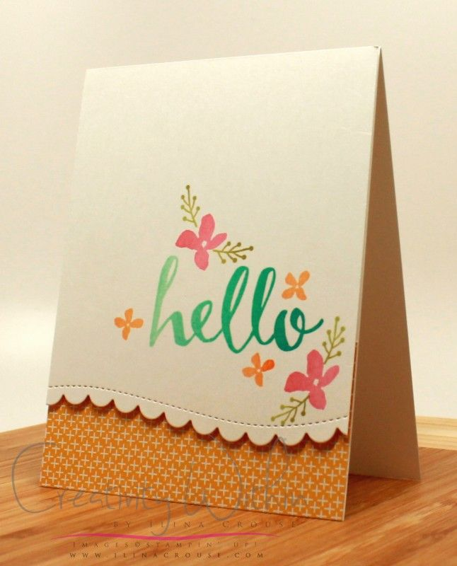 Hello by ilinacrouse - Cards and Paper Crafts at Splitcoaststampers