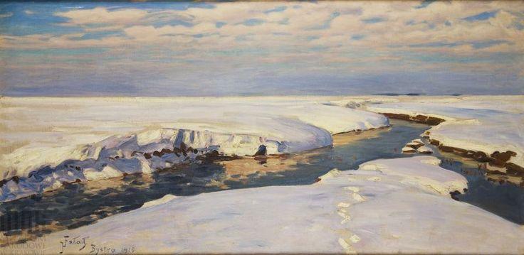 Julian #Falat, Śnieg, 1907, wł. Muzeum Narodowe w Krakowie // Snow, owned by the National Museum in Krakow