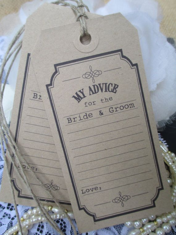 30 Wishing Tree Tags Ticket Style My Advice For the by TheIvoryBow