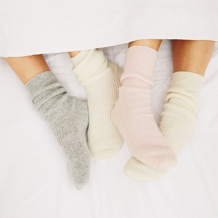 Cashmere Bed Socks - Slippers | The White Company - Lingerie, Sleepwear & Loungewear - http://amzn.to/2ieOApL