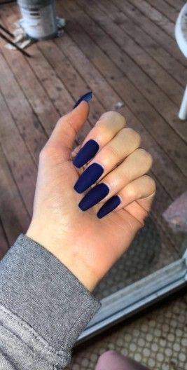 58 Am besten ausgewählte dunkelblaue Nägel (Acrylnägel, Hanteln) für Abschlu…