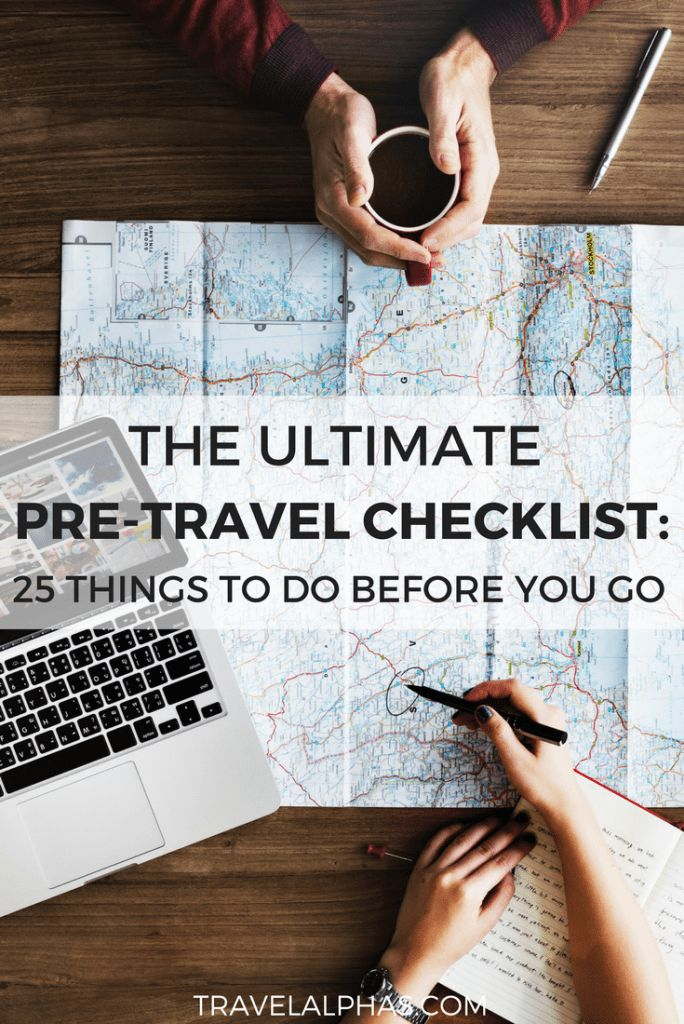Feeling overwhelmed and need help planning your trip? From the big things like booking your flights and buying travel insurance, to all of the little things like calling your bank and checking the weather forecast, there is a lot to cover. This pre-travel checklist will help ensure that you're totally ready to go when your departure date arrives. In this pre-travel checklist, there are 25 things you must do before international travel!