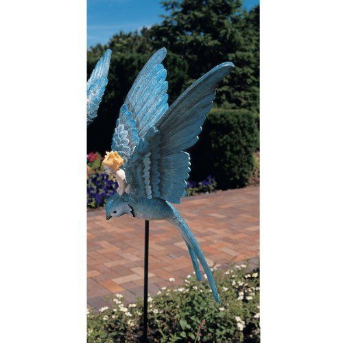 Thumbelina Fairy Garden Stake By Design Toscano. $39.95. Cast In Quality  Designer Resin.
