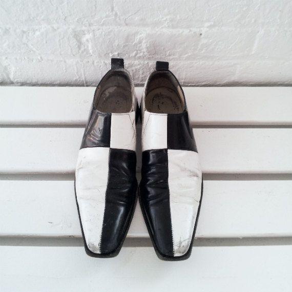 Comme des Garcons Black White Loafers 90s by KingArtsAndVintage, $200.00