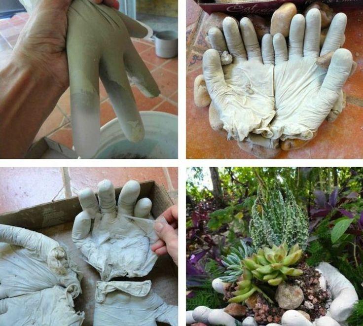 Für die Gartendeko brauchen Sie Gummihandschuhe