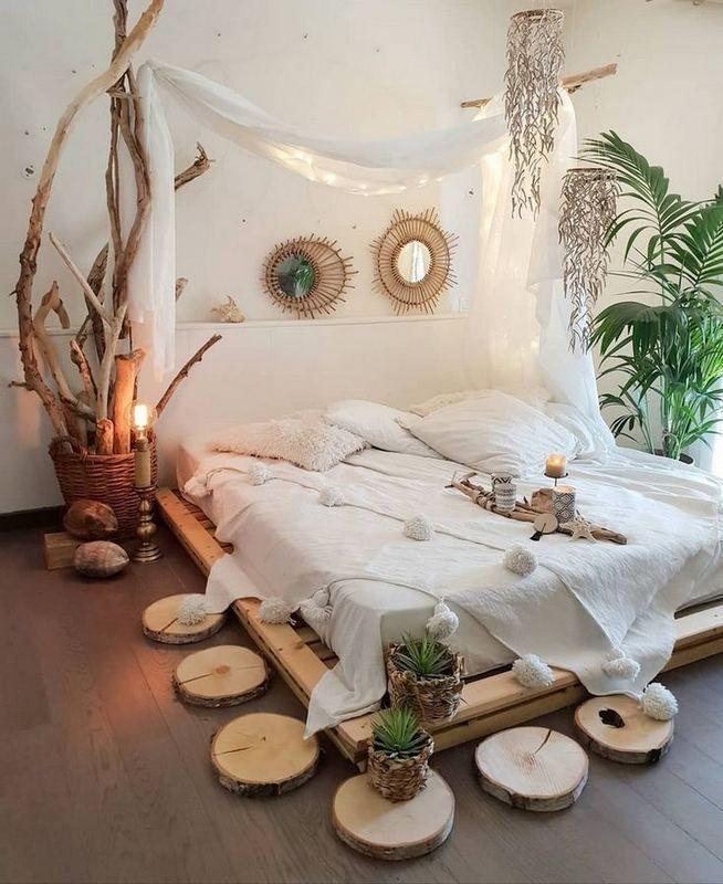 17+ idées de design de chambre à coucher de style bohème ...