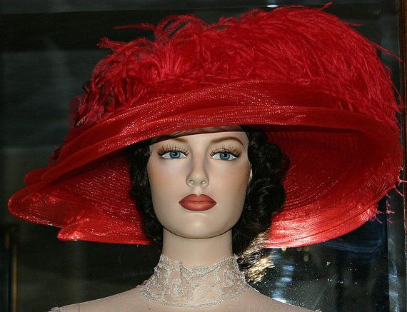 Downton Abbey Hat Titanic Hat Edwardian Hat Tea by darnasderbyhats