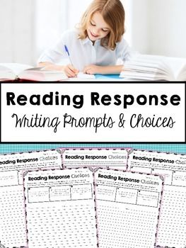 257 best reader response plans images on pinterest reading give students three reading response choices each week that encourage higher order thinking and citing text fandeluxe Choice Image