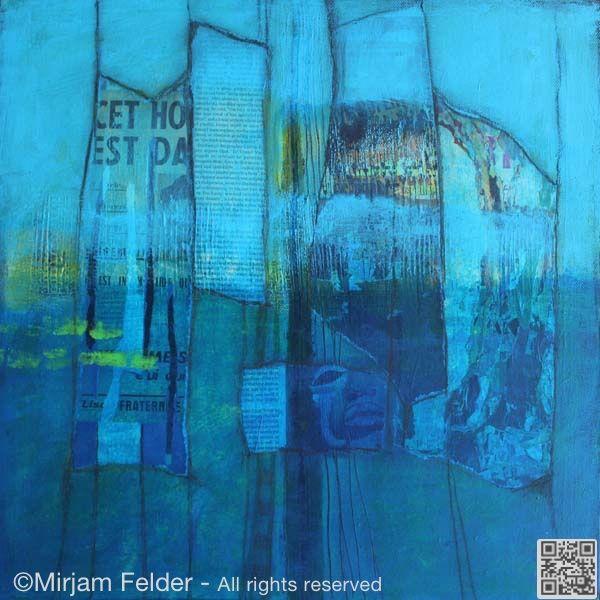 """mixed media on canvas,  16x16"""", 40x40 cm"""