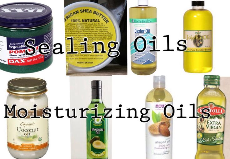 5 sealants that mimic sebum: 1) jojoba oil (lightest/ can be used for sealing wash n go's) 2) shea butter (can be liquefied) 3) castor oil 4) GREASE. No bueno! 5) beeswax Some moisturizing oils that are NOT sealants grapeseed oil olive oil avocado oil (great for skin too because it is so moisturizing and able to penetrate) almond oil (also great for the skin) coconut oil (again great for skin because it can penetrate moisture) argan oil