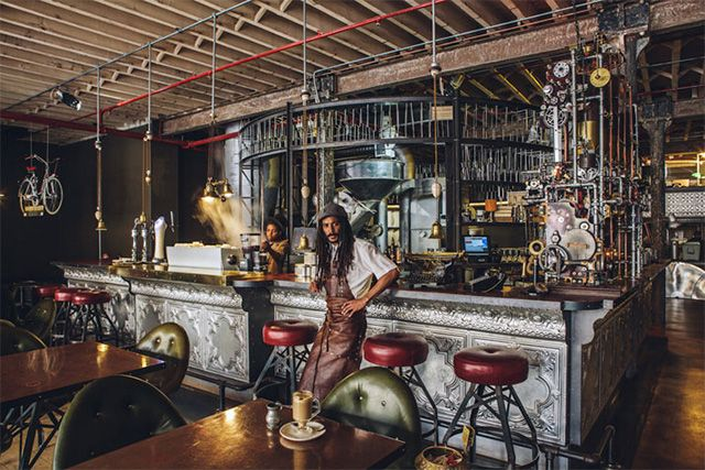 Steampunk Coffee Shop in Cape Town, South Africa