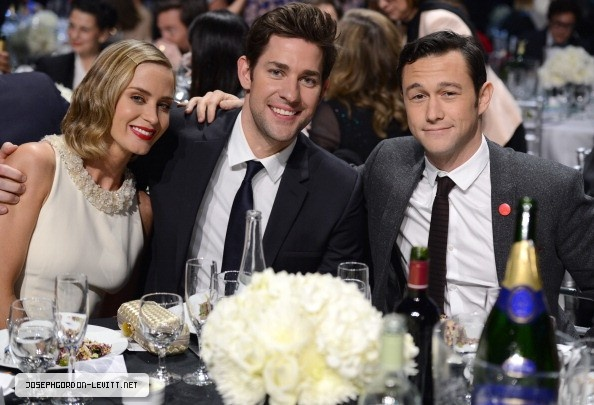 Joseph Gordon-Levitt, Emily Blunt and John Krasinski -  Critics' Choice Movie Awards 2013