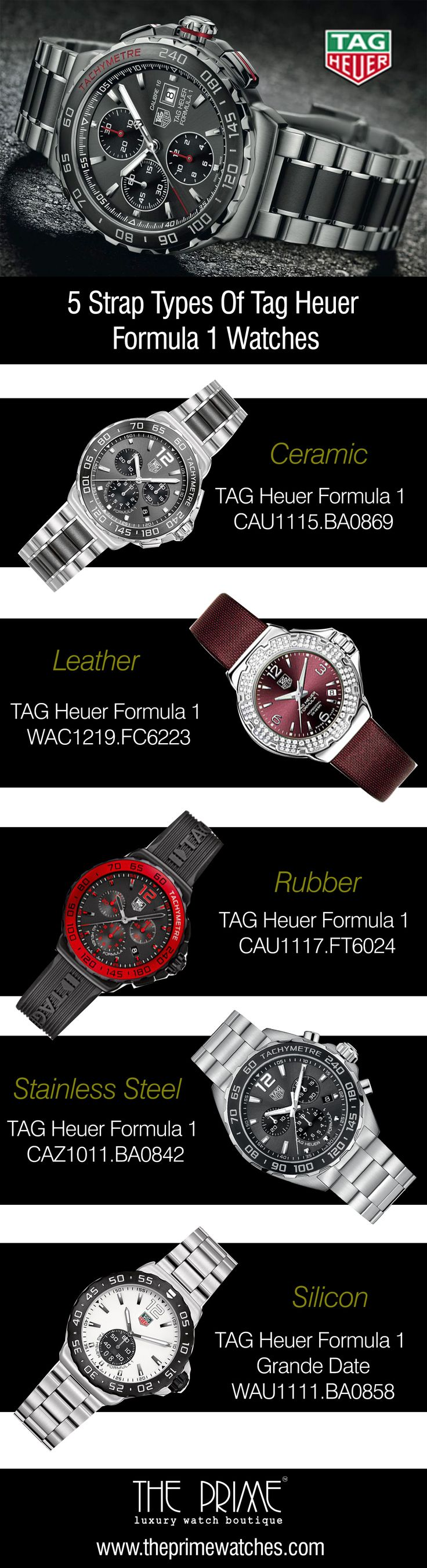 TAG Heuer Formula 1 watches are well known to the watch lovers for their speedy timekeeping. Their designs are inspired by the engineering of Moto GP racing cars. Both men and women watches are there in this collection. From this content, you will get a glimpse of some amazing strap types of TAG Heuer Formula 1 watches.  Strap is a significant portion of a watch.