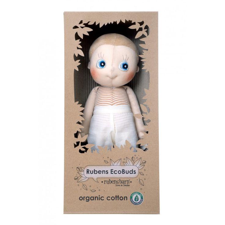 Rubens Ecobuds-en underbar ekologisk docka som passar från nyfödd och uppåt! Levereras i en fin presentask! Finns 4 olika modeller att välja på.