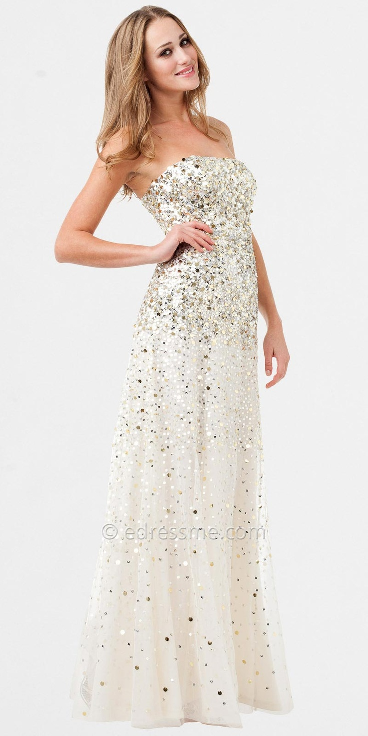 Maybe reception wedding dress sequin evening dresses by for Evening dresses for wedding reception
