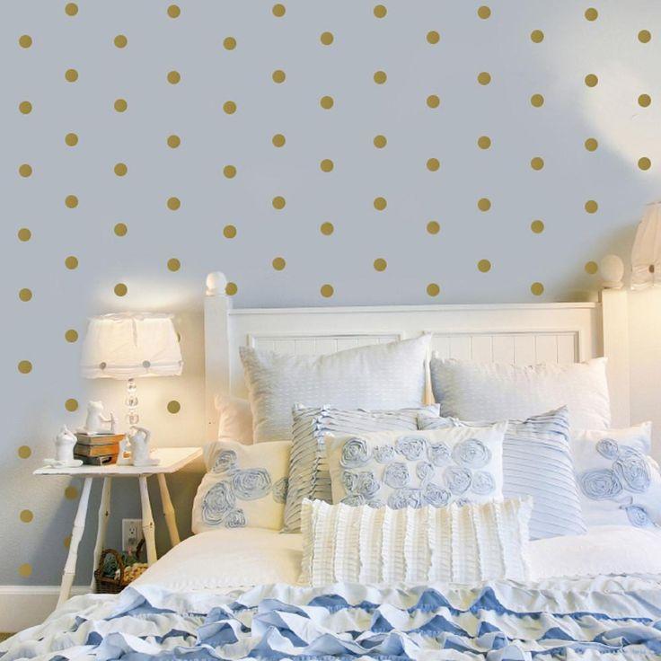 "Wall Decals 120 Gold Dots Metallic 2"" Polka Dot Vinyl Peel & Stick – Wall Dressed Up"