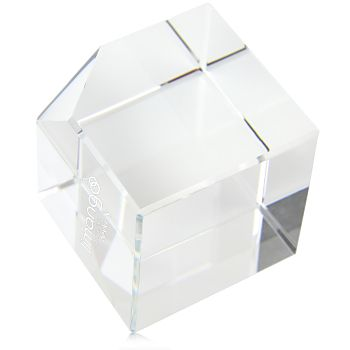 Wholesale distributor provides personalized Square Cube Crystal Paperweight, promotional logo Square Cube Crystal Paperweight and custom made Square Cube Crystal