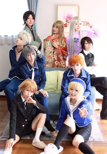 """""""Fruits Basket"""" - (From Left to Right, Top to Bottom) Shigure, Ritsu, Ayame, Hatsuharu, Hatori, Yuki, Kyo, Hiro, and Momiji."""