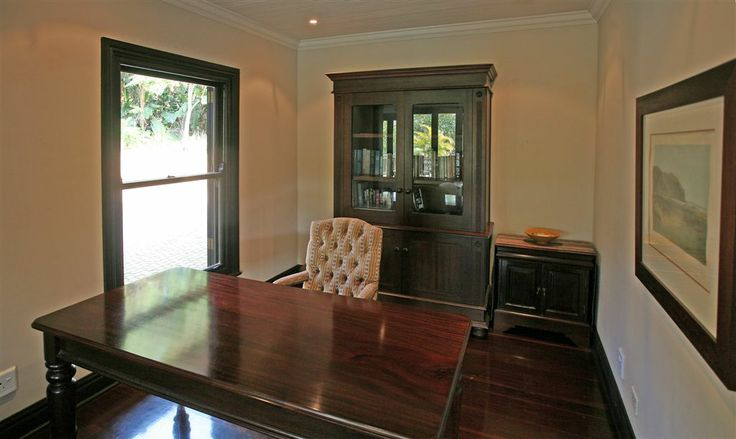 Luxury Villa, Zimbali Coastal Resort, KwaZulu Natal, South Africa. Study Room. #luxurysouthafricanholiday