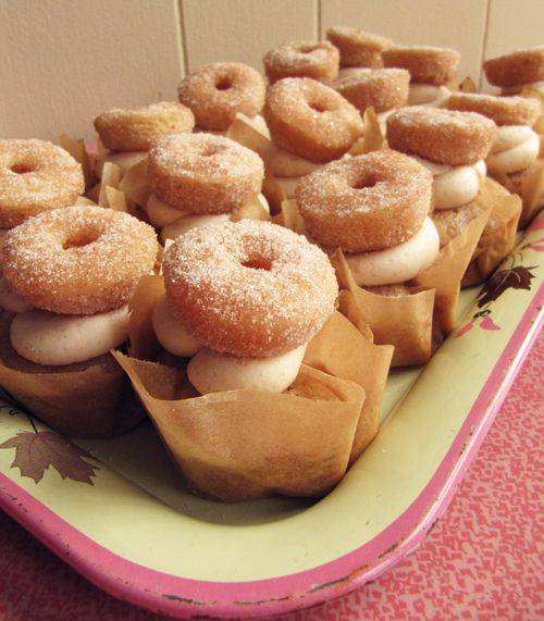 CiderandDonutCupcakes - perfect treat after a hike in the fall.