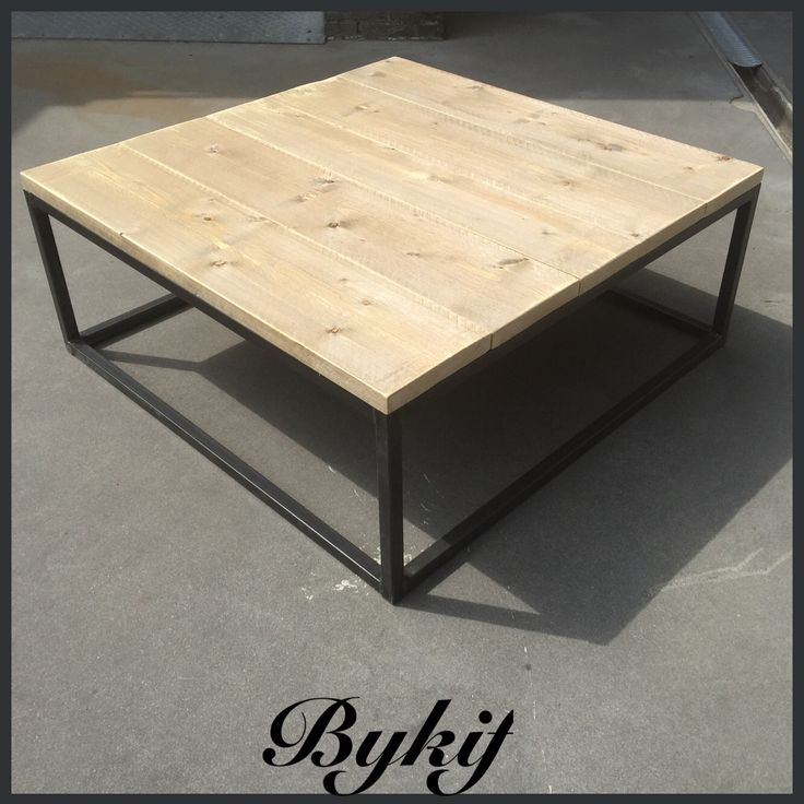 Salontafel steigerhout en staal