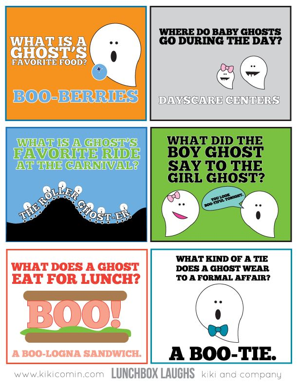 free ghost halloween edition of lunchbox laughs by kiki and company for todays creative blog - Kids Jokes Halloween