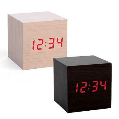 Wood Cube Alarm Clock