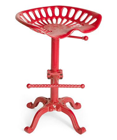 Look at this #zulilyfind! Red Tractor Seat Stool #zulilyfinds