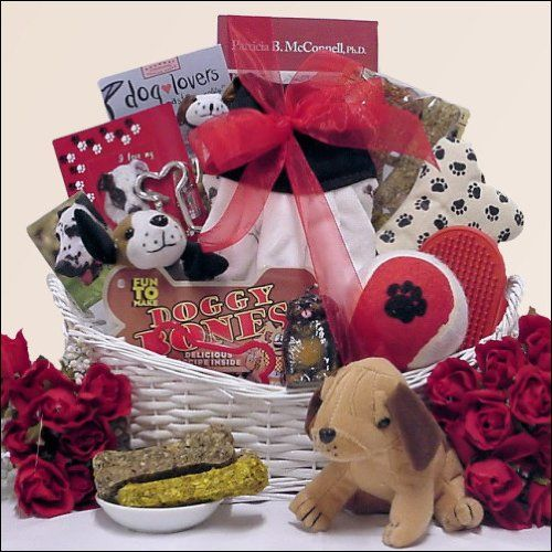 Help celebrate the arrival of their new dog with this gift fantastic gift basket.