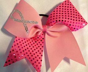 Cheer Bows Cheerleading bows bow, CHEER ALL STAR BOWS Breast Cancer Bows