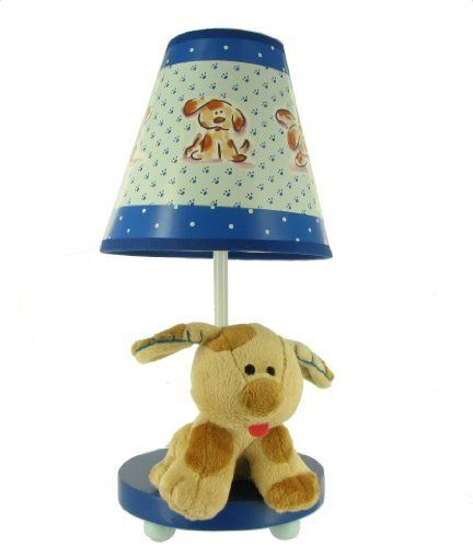 "Dolly Plush Puppy Blue Childrens Table Lamp by Dolly. $17.99. On/Off switch on cord, 13"" high (including shade), Uses 25 watt ""b"" type bulb or smaller (not included)."
