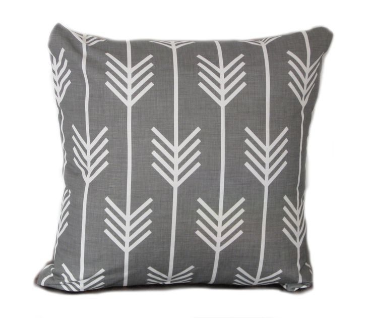 Hard to find 45cm indigo designs white arrow cushion