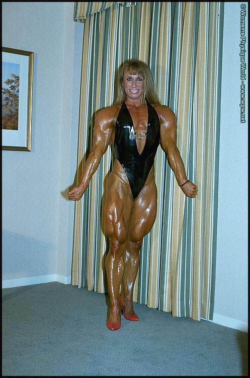 One of the early pioneers of female bodybuilding, Sharon