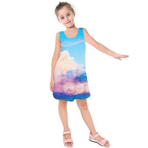 New! - Girls Pastel Clouds Sleeveless Dress - Spring - Easter - Summer - Sublimation Print http://etsy.me/2DGv0Sp