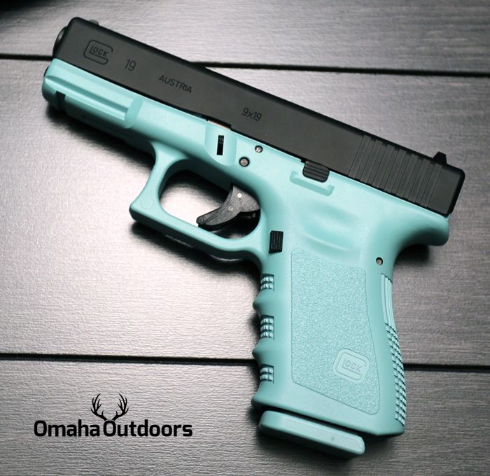 Glock 19 Gen 3 Tiffany Blue Black Edition 9mm 15 RDS 4.02″ Handgun ...