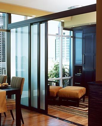 Internal Glass Partitions Bedroom Black And Frosted