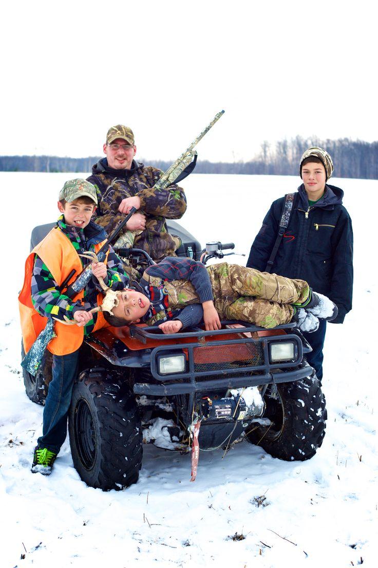hunting family photo