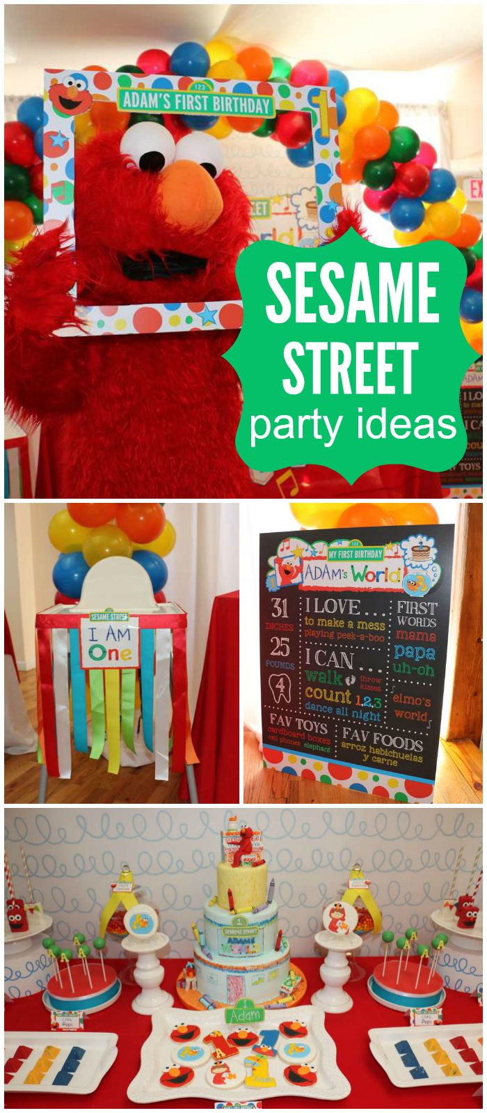 Check out this Elmo's World Sesame Street birthday party! See more party ideas at CatchMyParty.com!: