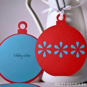 christmas cards or tags