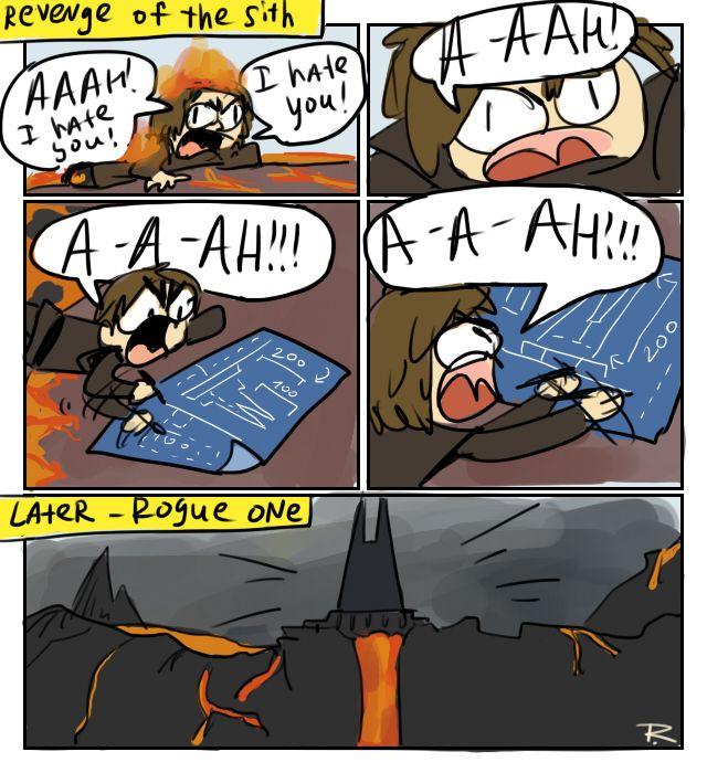 AHHH! I hate you! AHHHH!!! *designs evil lair* {Rogue One, comics 5}