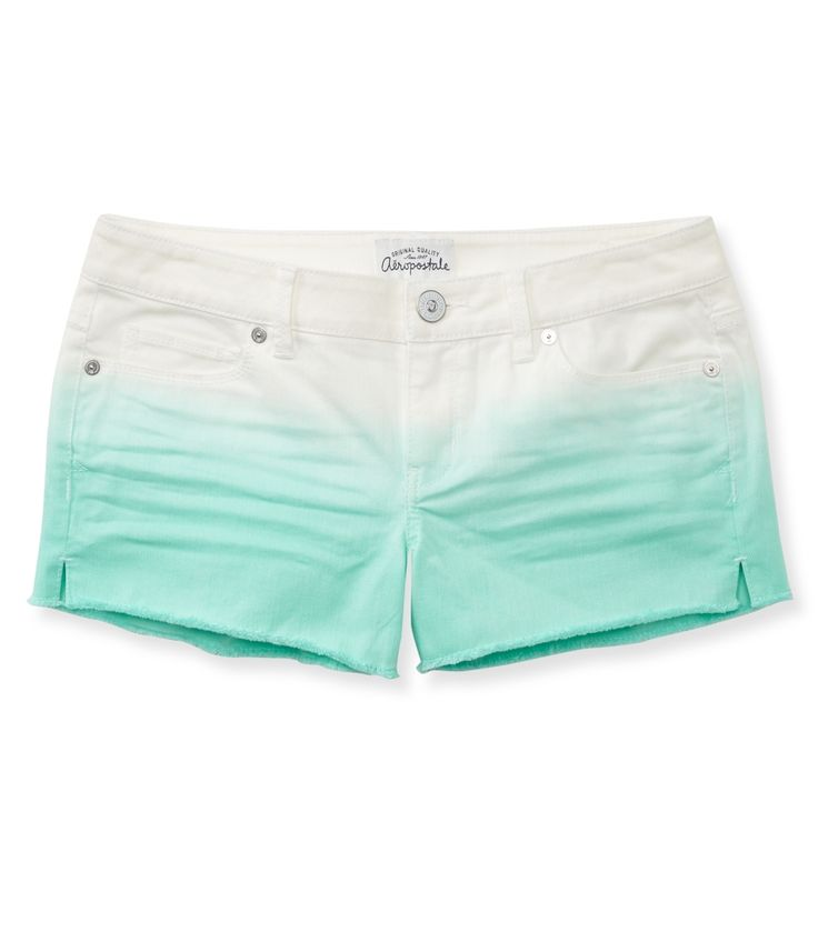 Colored Gradient Denim Shorty Shorts - Aeropostale