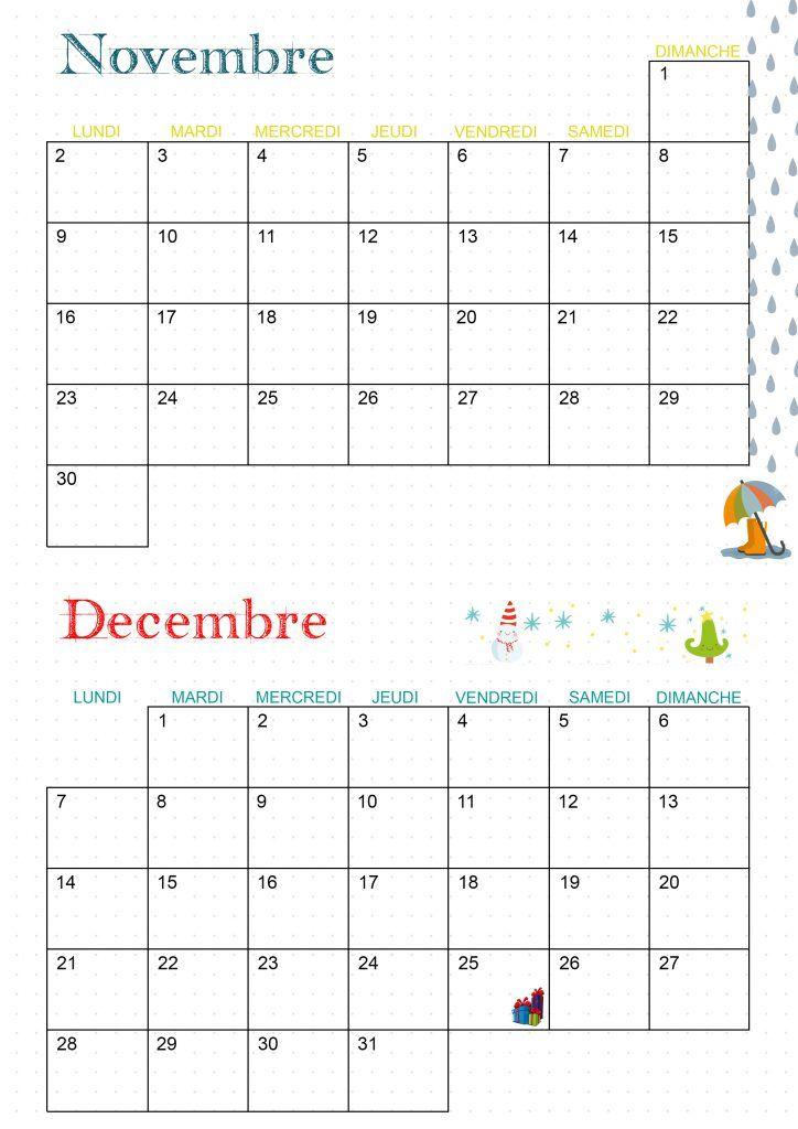 Calendrier 2020   Les activités de maman | Calendrier, Calendrier