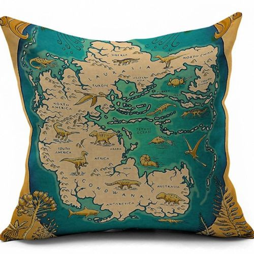 Retr Oil Painting Cotton Linen Pillow Cover Sofa Cushion Covers Pillow  Protector