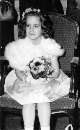 bruidsmeisje toen ik 7 jaar oud was