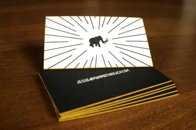 Custom letterpress business cards via Grand Rapids Letterpress company: Freshly Squeezed Print Shop