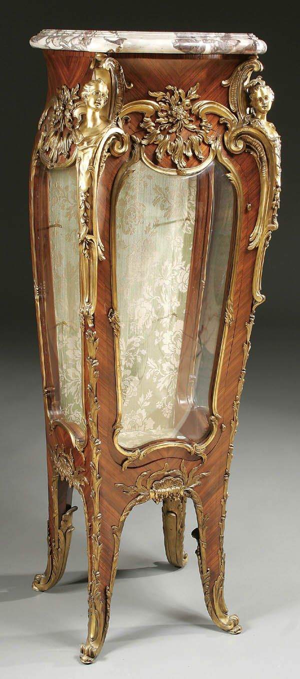 A very fine louis xv style vitrine stand by linke louis for French rococo period