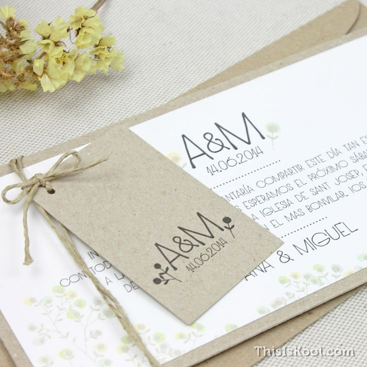Invitación boda - CAMPESTRE | This Is Kool © | www.thisiskool.com