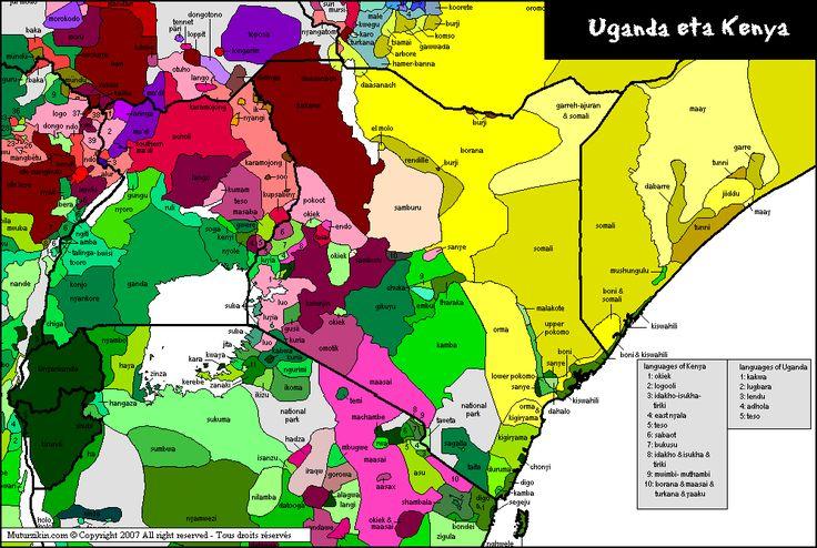Languages in Uganda and Kenya