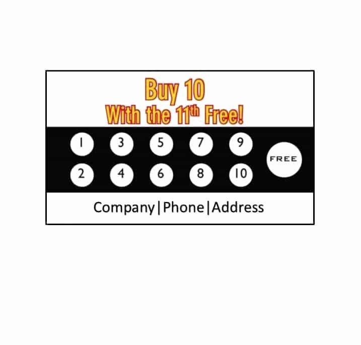 Punch Card Template Free Downloads Beautiful 30 Printable Punch Reward Card Templates Free Free Business Card Templates Card Templates Free Card Template