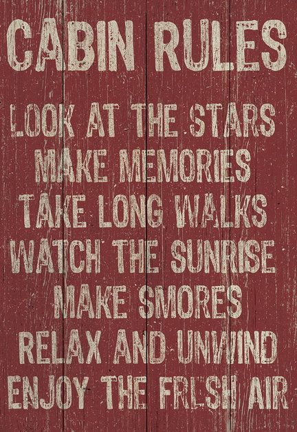 'Cabin Rules' Wall Art